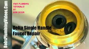 Old Delta Single Handle Shower Faucet Repair How To Repair A Delta Single Lever Faucet Youtube