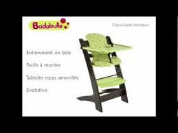 chaise volutive badabulle vidéo ukeez tv chaise haute évolutive badabulle