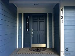 front door painted hale navy blue siding white trim best paint