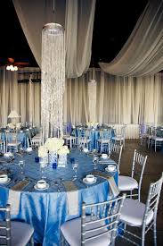 impressive silver and blue wedding decorations wedding colors
