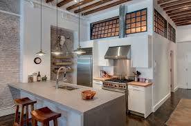 cuisine de caractere agréable loft industriel à au caractère éclectique