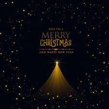 black christmas black christmas poster design with glowing tree vector free