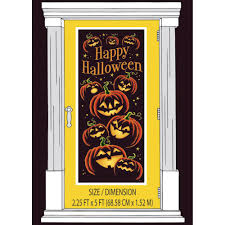 pumpkin grin halloween door poster from all you need to party uk