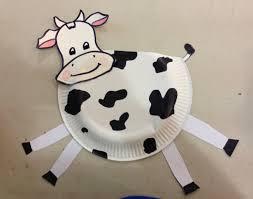 paper plate cow kids craft kraftivities 4 kids pinterest