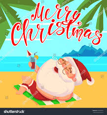 christmas cocktails clipart summer santa claus shorts cocktail his stock vector 750002002