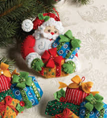 bucilla seasonal felt ornament kits felt