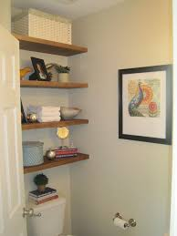 bathroom shelves ideas storage in small half bathroom hometalk