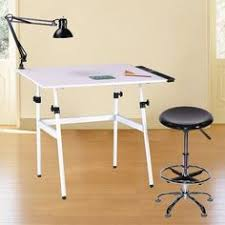 Drafting Table Set Generic Universal Design White Gallery Drafting Art Hobby