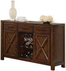 holland house lakeshore dining sideboard w wine rack and stem