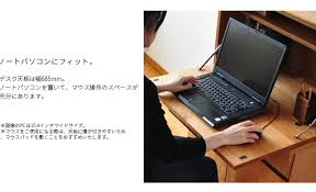 pc bureau compact bigmories rakuten global market alder pc writing bureau walnut
