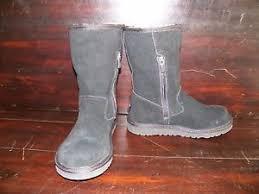 ugg s zip boots ugg australia lil black suede sheepskin