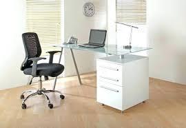 Glass Desk Office Modern Glass Office Desks Evercurious Me