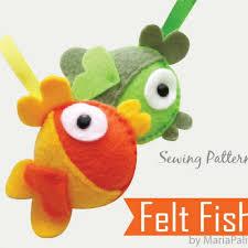 pdf sewing pattern diy felt fish felt fish ornament a199 fish