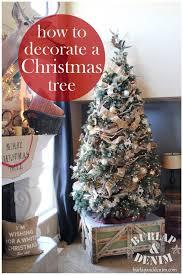 how to decorate a tree burlap denimburlap denim