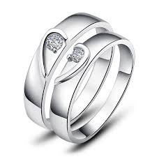 promise rings for men two half hearts puzzle promise rings set for women and men 925