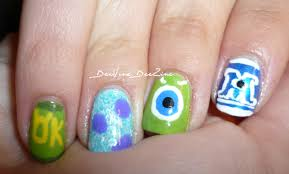 monsters inc nail art monster u0027s university youtube
