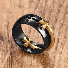 cross rings men images Separable cross ring jpg