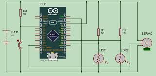 arduino solar tracker circuit diagram