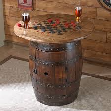 whiskey barrel table for sale whiskey barrel game table wine enthusiast