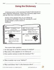 using a dictionary worksheets for 3rd grade worksheets