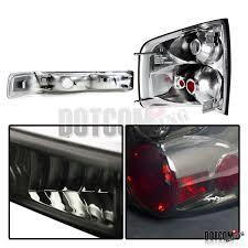 2004 Silverado Tail Lights 1998 2004 Chevy S10 Pickup Smoke Lens Headlights Bumper Lamps Rear