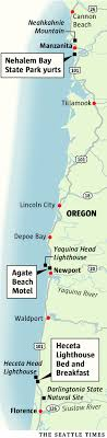 map of oregon lighthouses 3 places to stay on the oregon coast the seattle times