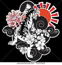 japanese tiger flower vector illustration stock vector