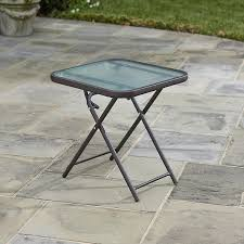 Courtyard Creations Inc Patio Furniture by Amazon Com Folding Patio Side Table Brown 18