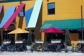 Cafe Awning How To Paint Vinyl Awnings Hunker
