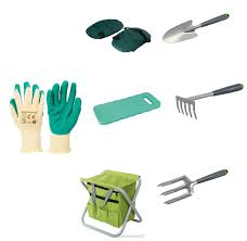 gardening planting hand tools set and tool bag stool knee pads