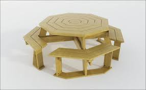 Building Plans For Hexagon Picnic Table by Exteriors Recycled Plastic Picnic Tables Cedar Hexagon Picnic