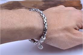 man sterling bracelet images Vintage thai silver bracelets 4 7mm 925 sterling silver bracelet jpg