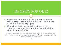 density grade 8 science ppt video online download