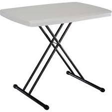 Adjustable Height Folding Table Lifetime Adjustable Height Personal Folding Table 30