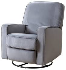 fabric swivel recliner chairs bowery hill bowery hill fabric swivel glider recliner chair