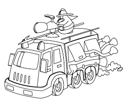 cartoon fire truck coloring free printable coloring pages