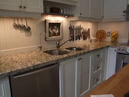Vinyl Backsplash Ideas by Kitchen Beadboard Backsplash Using Wallpaper Mom 4 Real Kitchen