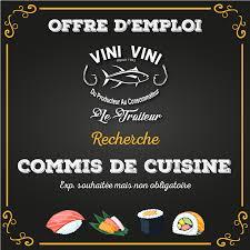 recherche commis de cuisine vini vini traiteur offre emploi vini vini traiteur recherche un