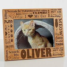 personalized cat gifts personalized cat picture frames 5x7 pet gifts