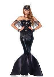 leg avenue dark water siren costume halloween sinister black