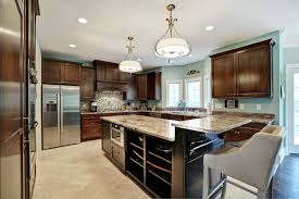 glass countertops two tier kitchen island lighting flooring