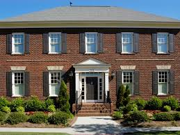 colonial house style exterior trim molding and columns hgtv