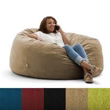 fufsack big joe lux textured memory foam bean bag chair