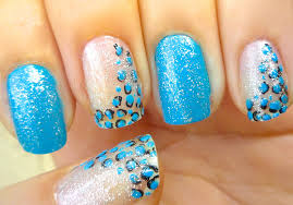 shiny blue leopard print nail art 2013 trends youtube
