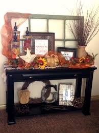 fall decorating sofa table entryway i love this the window and