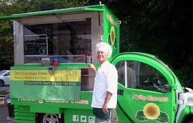 electric utility vehicles philly chef transforms electric vehicle into green food truck
