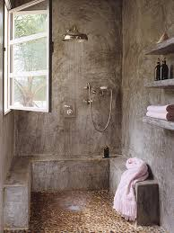 30 inspiring industrial bathroom ideas pebble floor rain shower