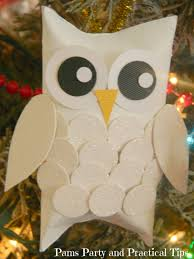 pams practical tips snow owl ornaments