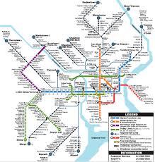 Csx Railroad Map Septa U0027s Rail Lines Map