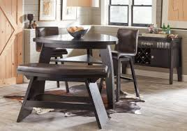 triangle high top table noah chocolate 4 pc bar height dining room dining room sets dark wood